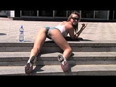 Susanna Spears Body-Art Naked girl in public