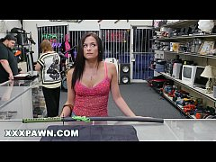 xxxpawn - alexis deen swallows my sword in pawn shop backroom xp15248