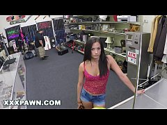 XXXPAWN - Alexis Deen Swallows My Sword in Pawn Shop Backroom (xp15248)