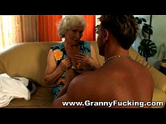 Mature granny getting fucked by a large cock