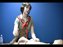 Jerked off by a girl scout against his will