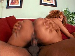 Ebony chick eaten out and fucked