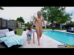 BANGBROS - Rharri Round Showing Her Big Ass Off By The Pool, Catches Archie Stone's Attention