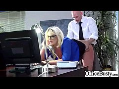 Big Melon Tits Girl (julie cash) Enjoy Hardcore Sex In Office video-26