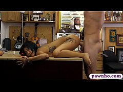 Asian babe screwed by horny pawn keeper