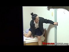 Uniform asian teen spied