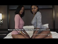 Sexy Black Lesbian Sisters in Threesome Ebony Anal Teen Video