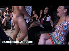 DANCINGBEAR - Group Of Horny Women Getting Dicks Shoved In Their Mouths At A Party
