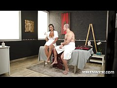 Private.com - Curvy Chloe Lamour Milks Cock On Her Big Body!