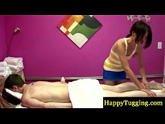 Asian masseur getting her client horny