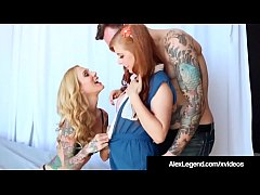 Alex Legend Gets Pussy with His Tattooed Girl & Penny Pax!