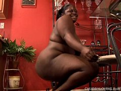 Busty black BBW wishes you were fucking her juicy pussy