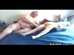 amateur fat couple grandparents fucking in bed on milf4you.us