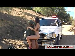 Blonde police officer threesome Latina Babe Fucked By the Law