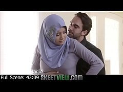 Hijab babe licks a butthole and recieves anal sex before a facial