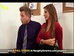 Madison Ivy Busty Secretary  gets tit fucked by her bosses big cock on office desk