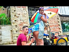 carne del mercado - public pick up with hot colombian teenager