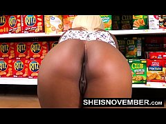 HD Fucking In Walmart Big Butt Doggy Style Sex by Sexy Ebony Babe Msnovember Needing Grocery Money So She Offers Her Booty And BJ To Old Man  HD Sheisnovember