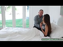 latina teen stepdaughter fucks with stepdad in the morning