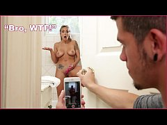 BANGBROS - Teen Step Sister Layla London Filmed Masturbation In Shower, Has Sex To Delete Footage