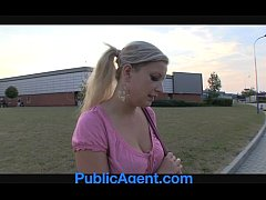 PublicAgent Natally shows me more than just her big boobs outdoors.