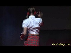 horny schoolgirls on public stage