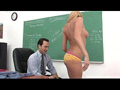 lovely and sexy teen Victoria White sucking and fucking her professor
