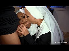 nuns nikki benz and jessica jaymes get fucked by a priest
