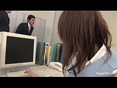 HD Japanese babe gets fucked in the office