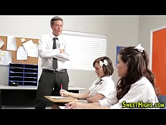 Uniform teenager blowing