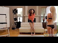 Fantastic legal age teenager casting scene