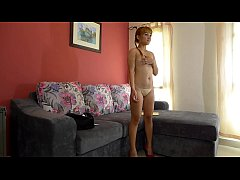 Young blond Thai girl creampied on casting couch