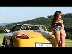 hot masturbation in a porsche