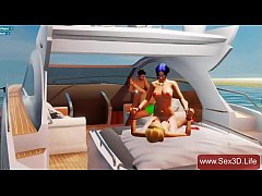 Group 3D sex on yacht - Sex Game