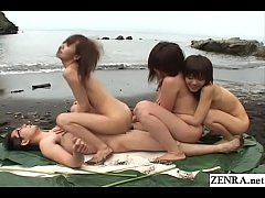 JAV stars washed ashore on an uninhabited island have nothing but crazy outdoor group sex all day everyday with the most lucky man in the world with English subtitles