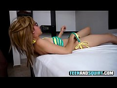 BANGED MY SQUIRTING BLONDE STEP SISTER IN A HOTEL AFTER THE BEACH! (P2)
