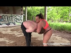Punching Bag For Madame Anna Konda - Powerful Woman Dominate the Helpless Slave without a Mercy