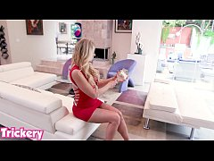 Wife Katie Morgan plays a dirty trick to get fucked