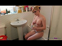 Jodie Ellen - Get Moisturized - 1min preview horny blonde rubs oil into her bigt