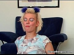 Teen learning with her naughty stepmother