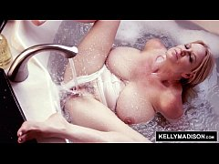 KELLY MADISON Getting Off in the Bath With Her Huge Naturals