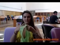 Busty Exhibitionist amateur in the library 10-amateurexhibs.online