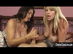 MILFS Charlee Chase and Vicky Double Suck