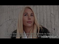 Sexy Czech girl Kyra Hot banged by stranger for some cash