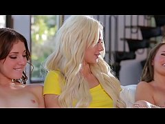 HD Spring break lesbian sex with college girls - Elsa Jean, Scarlett Sage and Lena
