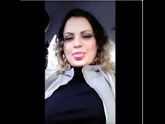 #Exhibitionist  #anabellaxxx1 #show #boobs in #car when #people #walk on #street