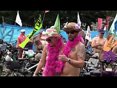World nude  bike riding festival