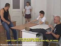 Russian student girl meets a pack of brutal guys and gets humiliated