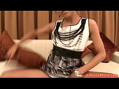 Ladyboy MJ With Anal Beads