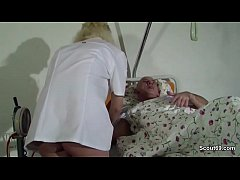 German Teen Nurse Help Old Men to Cum with a Fuck